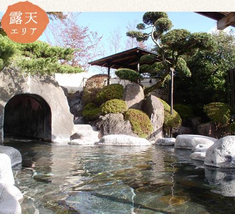 ゆとろ嵯峨沢の湯 露天風呂